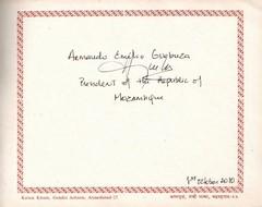 Armando Emílio Guebuza (3rd President of Mozambique)