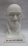 gandhi statue with stand with message1000